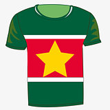 T-shirt flag Suriname