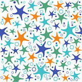 seamless pattern with starfish