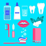 dental care icons set