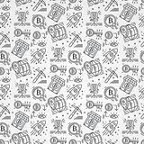 Bitcoin pattern seamless isolated