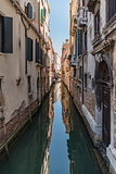 Beautiful view of the Venetian canal
