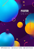 Abstract poster design.