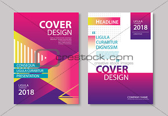 Abstract gradient modern geometric flyer and poster design templ