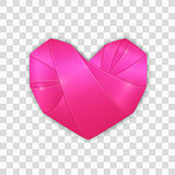 Origami pink heart