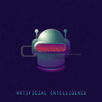 Artificial intelligence classic robot head