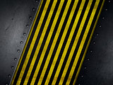 Grunge style background with yellow and black warning stripes