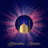Ramadan Kareem background with mandala design
