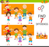 differences game with kid characters