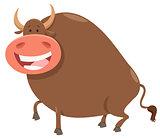 happy bull cartoon farm animal character