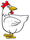 hen or chicken cartoon farm character