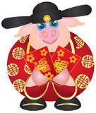 2019 Year of the Pig Money God with Red Packet