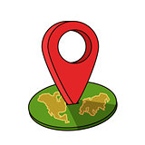 Around the world travelling by plane, airplane trip in various country, travel pin location on a global map. Flat icon modern design style