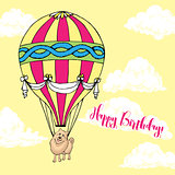 Background with dog and air balloon