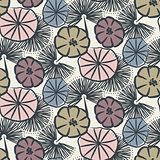 Flower seamless vector pattern illustration.