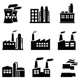 Industrial buildings, power plants and factory