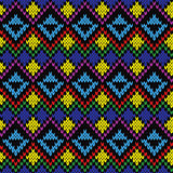 Seamless knitted multicolor ethnic pattern