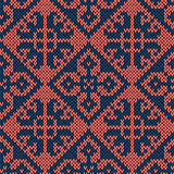 Seamless orient ethnic knitted pattern
