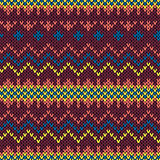 Seamless colorful knitted pattern