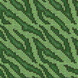 Seamless knitted green camouflage pattern