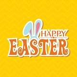 Vector illustration of Happy Easter greeting card
