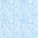 Cinema White Line Seamless Pattern
