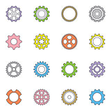 Vector cog wheels and gears set