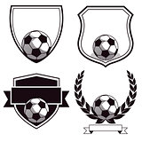 Set of football club emblems