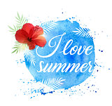 Summer tropical background with flower