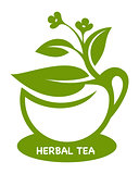 Herbal tea. Eco product logo.
