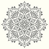 Flower decorative mandala. Vector design element.