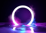 Neon Glowing Loop Stage And Lighting