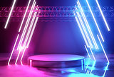 Neon Lighting And Platform Stage