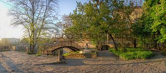 Small square of old Odessa in Ukraine