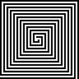 square spiral vector