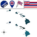 Map of Hawaii with Regions