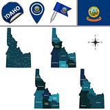 Map of Idaho with Regions