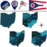 Map of Ohio with Regions
