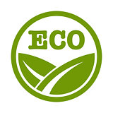 Eco logo with leaf