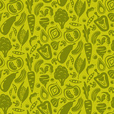 Vegetable green seamless background.