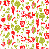 Seamless food pattern vector background.