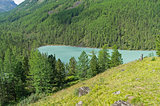 Small mountain lake. Altai Mountains, Russia.