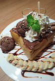 Chocolate honey toast