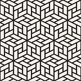 Vector seamless pattern. Modern stylish lattice texture. Repeating geometric background. Cubes with mosaic faces.