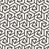 Vector seamless lines mosaic pattern. Modern stylish abstract texture. Repeating geometric tiles