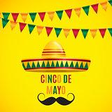 Cinco de Mayo holiday background. Vector illustration
