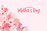 Happy Mother's day greeting card with background. Vector Illustration