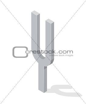 Camerton isolated on white background. Isometric vector illustration