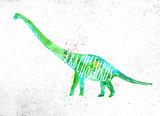 Dynosaur brachiosaurus vivid