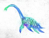 Dynosaur plesiosaurus vivid
