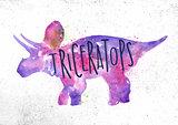 Dynosaur triceratops vivid